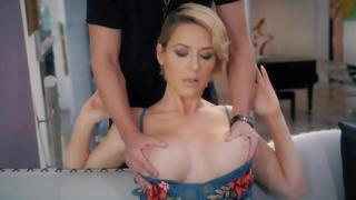 NEW MILF Series from Cherrypimps! Blonde MILF Gets Big Tits Massaged And Gives A Sloppy Blowjob