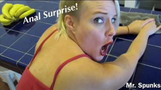 Anal Surprise While She Cleans: Ass Fucked with No Warning