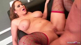 Big Bouncing Tits Nurse Alanah Seduce patient to Fuck her