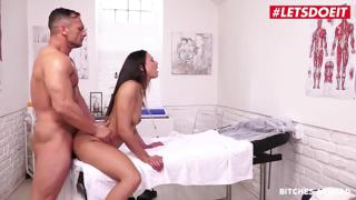 LETSDOEIT - French Tourist Babe Cassie Del Isla Has Hardcore Sex Abroad With Local Doctor