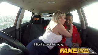 Fake Driving School Big Black cock stretches cheating wet pussy