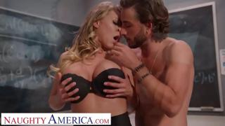 Naughty America - Katie Morgan gets a much needed fucking from her student